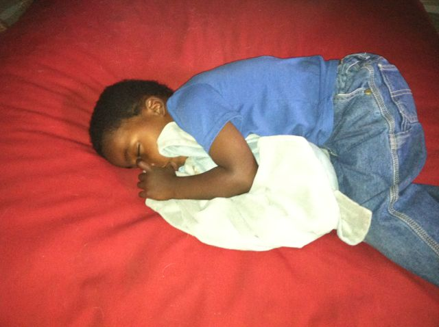 Ezra wen to his room to calm down, sleep helps everyone
